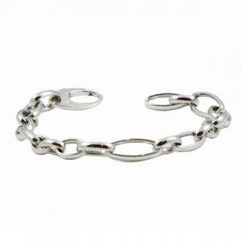 Simple White Gold chain-link bracelet