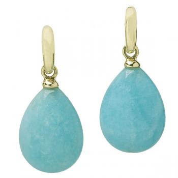 AMAZONITE 18K YELLOW GOLD EARRINGS