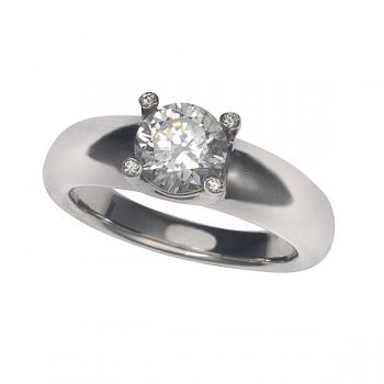 Elegant 18K White Gold Engagement Ring