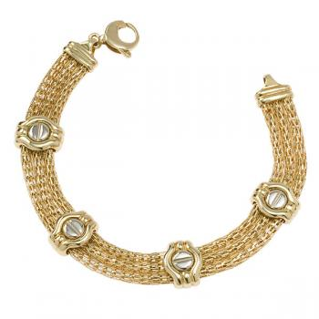 CHIC TWO TONE GOLD MESH BRACELET