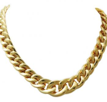 CLASSIC 18K GOLD LINK NECKLACE