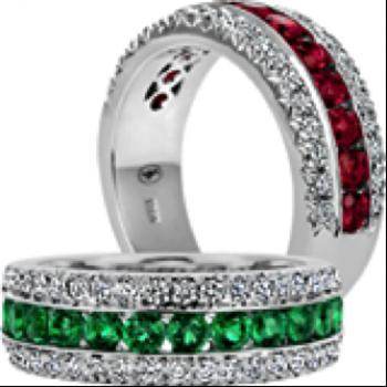Emerald and Diamond Anniversary ring