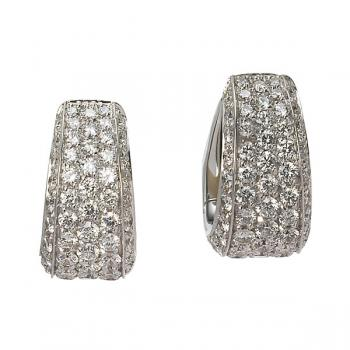 Exquisitely elegant Diamond 'huggie' style earrings