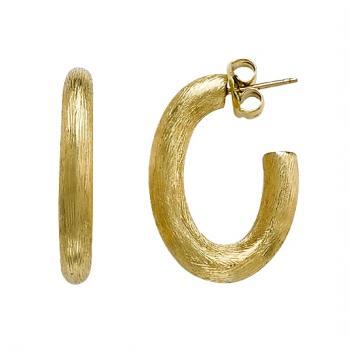 Classic 18K Yellow Gold hoop earrings