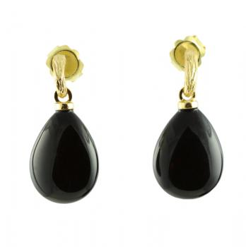 Sexy and modern Agate drop earrings set with 18K Yellow Gold