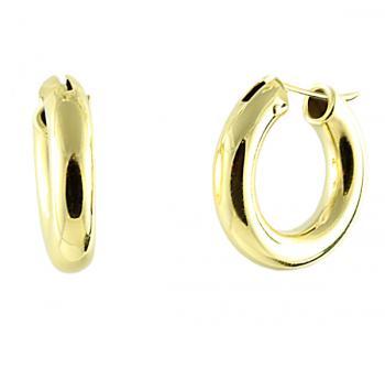 Elegant 18K Yellow Gold hoop earrings