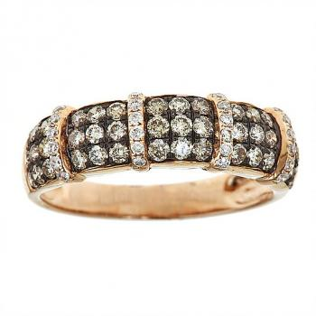 GOLD AND CHAMPAGNE DIAMOND RING