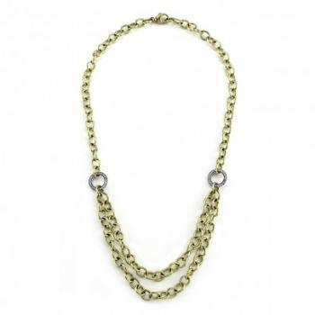 GOLD AND DIAMOND CHAIN NECKLACE