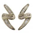GOLD AND DIAMOND Z EARRINGS