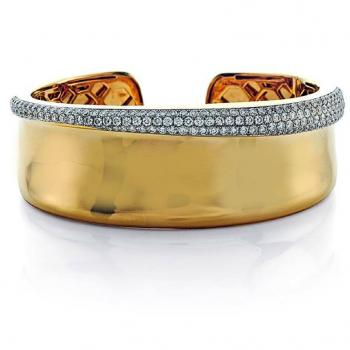 Gold and Diamond Cuff Bracelet
