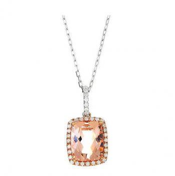 MORGANITE DIAMOND NECKLACE