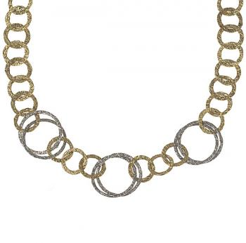 TWO TONE GOLD LINK NECKLACE