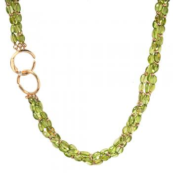PERIDOT AND 18K GOLD NECKLACE