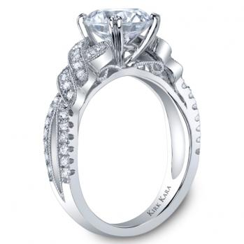 PLATINUM AND DIAMOND HANDCRAFTED ENGAGEMENT RING