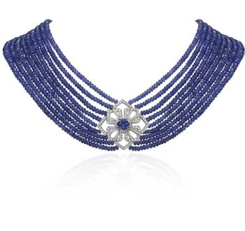 PLATINUM AND TANZANITE NECKLACE