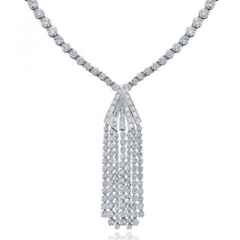 PLATINUM DIAMOND CASCADE DROP NECKLACE