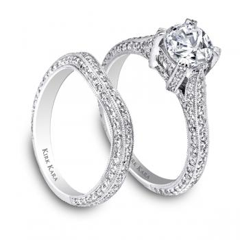 PLATINUM DIAMOND ENGAGEMENT RING SET