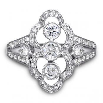PLATINUM DIAMOND RIGHT HAND RING
