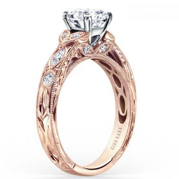 ROSE GOLD AND DIAMOND HANDCRAFTED ENGAGEMENT RING