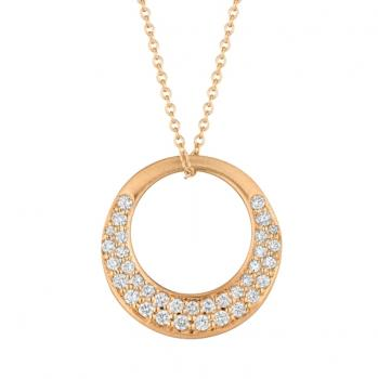 18K ROSE GOLD AND DIAMOND PENDANT