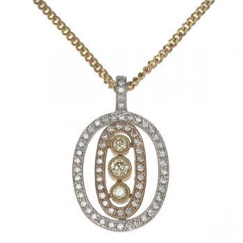3 DIAMOND INSET NECKLACE