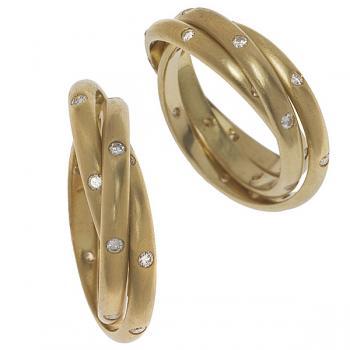 DIAMOND INSERTS INFINITY WEDDING BAND