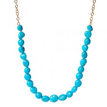 SLEEPING BEAUTY TURQUOISE PEBBLE NECKLACE
