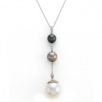 SOUTH SEA AND TAHITIAN PEARL NECKLACE