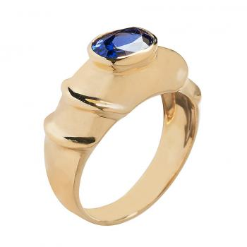 TANZANITE AND 18K YELLOW GOLD RING
