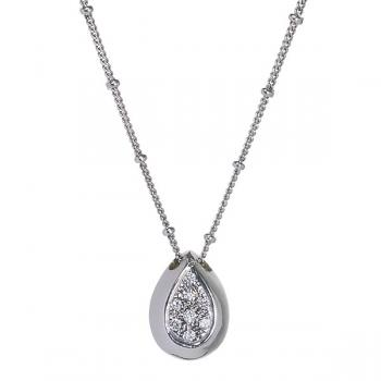 TEARDROP DIAMOND PENDANT NECKLACE