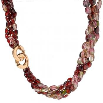 TOURMALINE AND RHODOLITE NECKLACE