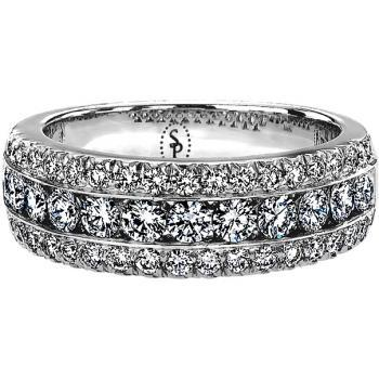 TRIPLE DIAMOND ROW ETERNITY BAND