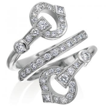 TRIPLE WRAP DIAMOND RING SET IN 18K WHITE GOLD
