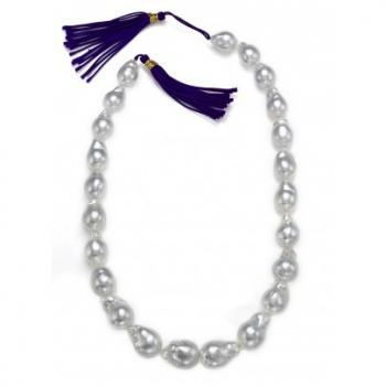 WHITE BAROQUE SOUTH SEA PEARL STRAND