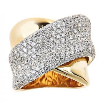 WRAP AROUND DIAMOND STATEMENT RING