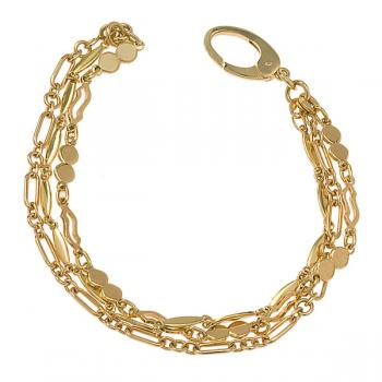 YELLOW GOLD 3 STRAND BRACELET