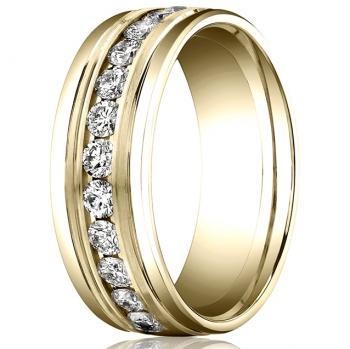 YELLOW GOLD DIAMOND BAND