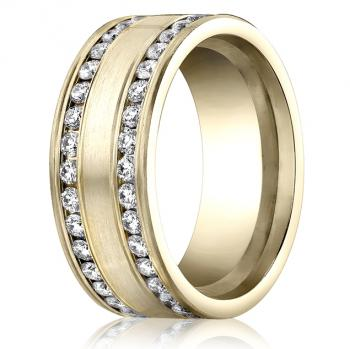 YELLOW GOLD DIAMOND ETERNITY BAND