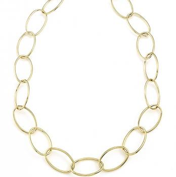 YELLOW GOLD LINKS NECKLACE