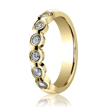 YELLOW GOLD SCALLOP ETERNITY BAND