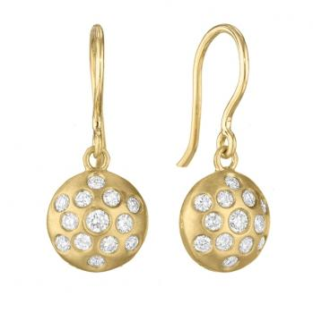 18K YELLOW GOLD AND DIAMOND SIZZLE EARRINGS