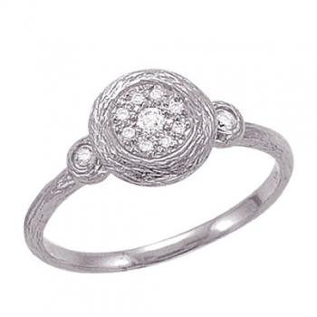 ETCHED GOLD DIAMOND RING