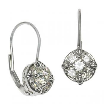 Brilliantly delicate Diamond earrings set in White Gold